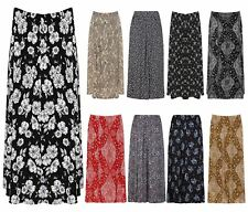 Womens Paisley Floral Printed Elasticated Stretch Skirt Waist Ladies Midi Skirt