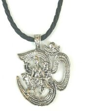 Om Aum Durga Mata Maa Ambe Hindu Goddess Pendant Yoga Meditation Thread Necklace