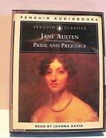Pride and Prejudice by Jane Austen (Audio cassette) Read By Joanna David 6 hours