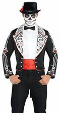 Mens Waistcoat Day of The Dead Fancy Dress Party Halloween Outfit Adult Cup4