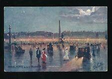 France PARIS Place de la Concorde Tuck Oilette serie 951 #45 French Edition PPC