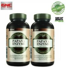 Papaya Enzyme Natural Brand by GNC, Supports Digestive Health  2 x 240 chew.tabs