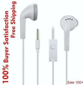 White Handsfree Headphones Earphones 3.5mm Fit For Samsung Galaxy S7 S6 S4 Note5