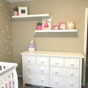 2pcs Childrens drawer knobsKids dresser pulls Nursery wardrobe door Wooden Star