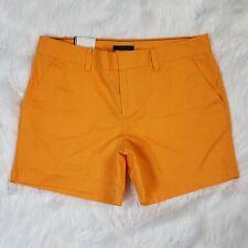"""New $39 Tommy Hilfiger Shorts 5"""" Inseam Marigold Gold Orange Women's Size 10"""
