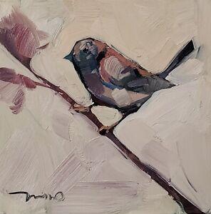 JOSE TRUJILLO Oil Painting IMPRESSIONISM BIRD CONTEMPORARY ARTWORK SIGNED NR