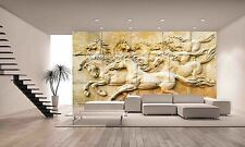 STONE SCULPTURE HORSE Wall Mural Photo Wallpaper GIANT DECOR Paper Poster