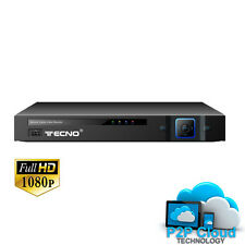 DVR 8 CANALI AHD NVR FULL HD 1080P ANALOGICO REMOTO CON HDMI USB CLOUD LAN P2P