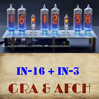 IN-16 Micro Nixie Tubes Clock [RGB USB Musical] 12/24H SlotMachine [WITH TUBES]