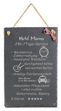 Schild mit Spruch witzig Hotel Mama Schiefertafel Geburtstag Wanddeko Geschenk