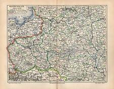 WESTRUSSLAND Ostpreußen Dünaburg Nowograd Ostsee Warschau LANDKARTE  1908