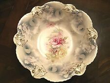 """C.1900 Early Prussia Steeple Mold Bowl 10.75""""  Matte Opal/Pearl Finish - Unique"""