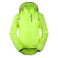 Men's Bike Light Wind Coat Bicycle Waterproof Long Sleeve Cycling Jacket XL-3XL