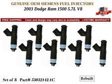 8 set Fuel Injectors for 2003 Dodge Ram 1500 5.7L V8 /OEM SIEMENS #53032142AC