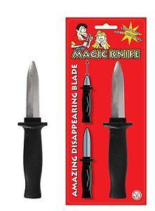 Retractable Magic Knife Slide Dagger Joke Trick Disappearing in Fancy Dress Toy
