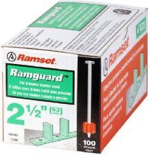 New Ramset Powder Fastening Systems 2 1/2 Inch Pin w/ Ramguard 100 per box