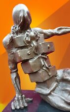 More details for art bronze statue abstract cabinet hot cast female sculpture modern art