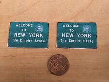Ho/O scale  Welcome To New York Signs (single sided) For Model train layouts