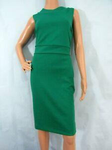 NWT BANANA REPUBLIC Medium Green Sleeveless Stretch Sheath Dress, Size 12