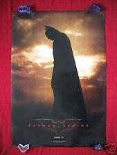 BATMAN BEGINS * 2005 ORIGINAL MOVIE POSTER D/S TEASER AUTHENTIC HALLOWEEN NM-M
