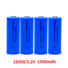 Li-ion ICR18500 1000mAh 3.2V 18500 Rechargeable Battery Free Shipping