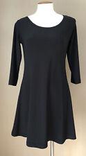 Sympli The Best Black Swing 3/4 Sleeve Swing Long Tunic Top  Size 2 XS EUC Artsy