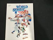 Philadelphia Phillies vs Baltimore Orioles 1983 World Series Official Program