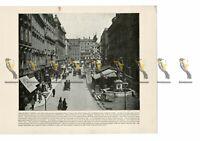 Graben, Vienna, Austria, Book Illustration (Print), 1899