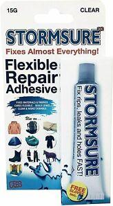 Stormsure Clear Glue 15g Flexible Repair Adhesive Waterproof Durable Fix Leaks