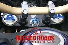 Cubierta de Volante Tallo Y Horquilla precarga adjustors-Azul-CRF1000