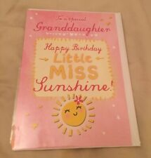 NEW Happy Birthday Card Special Granddaughter Little Miss Sunshine Hotch Potch
