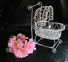 Wire Baby Carriage for Baby Shower Decorations or Centerpiece