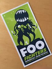 Foo Fighters poster nt Pearl Jam