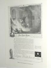 1920 Elgin Watch advertisement, ELGIN Bracelet Watch, Table Clock