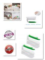 Comfortable Grip Scrub Brush with Flexible Durable & Stiff Bristles Green 2 pack
