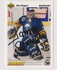 91/92 Upper Deck Tom Draper Buffalo Sabres Autographed Hockey Card