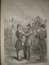 Distribution Crimea medals to French troops by HRH Duke Cambridge Paris 1856