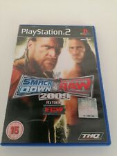 Playstation 2 ps2 games SMACKDOWN VS RAW 2009 Featuring ECW Retro Wrestling FREE