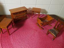 """VINTAGE Wooden 36""""x20"""" BABY CRADLE Wood NURSERY Furniture"""
