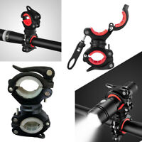 360° Rotation Bike Flashlight Torch Mount Cycling LED Light Holder Clamp Clip