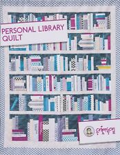 Personal Library, Crimson Tate, DIY Quilt Pattern, Library Book  & Shelves