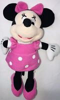 Just Play Disney Minnie Mouse Pink white polka Dot Plush toy 10""