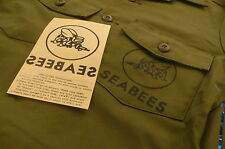 US NAVY SEABEES IRON ON DECAL for A-2 N-1 deck jacket, UTILITY / BDU jacket