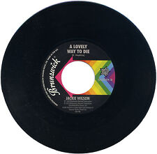 """JACKIE WILSON  """"A LOVELY WAY TO DIE""""      KILLER TRACK    LISTEN!"""