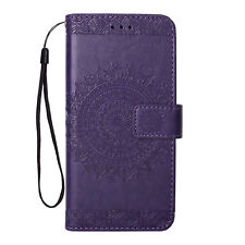 Flip Magnetic Wallet Leather Case Flower Print Cover For iPhone 5s 6s 7 8 Plus X