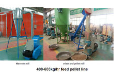 Small PELLET MILL line  600Kg/H for balanced animal feed, milling, mixing
