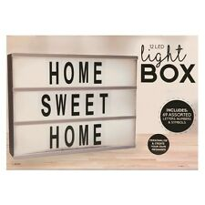 A4 Light Up Letter Box Cinematic LED Wedding Home Party Cinema Sign Messages NEW