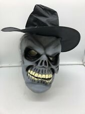Horror Halloween Vintage Mask Skull With Hat And Hair