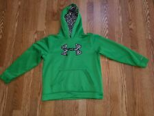 YOUTH SIZE LARGE GREEN UNDER ARMOUR PULL OVER HOODIE