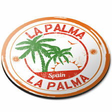 Round Mouse Mat - La Palma Spain Espana Palm Trees Office Gift #6101